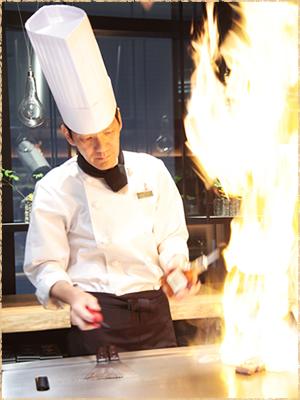 鉄板焼きコース料理